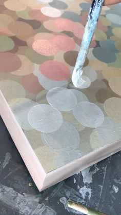 Painting Little Circles This is a brief real time video highlighting how to paint small circle as with acrylic paint on canvas. Painting Little Circles This is a brief real time video highlighting how to paint small circle as with acrylic paint on canvas. Diy Canvas Art, Acrylic Painting Canvas, Diy Painting, Painting & Drawing, Painting Videos, Canvas Canvas, Circle Drawing, Circle Painting, Circle Art