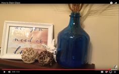 How to Stain Glass Bottles. Do THIS to any glass bottle & save. $129 at Pottery Barn!