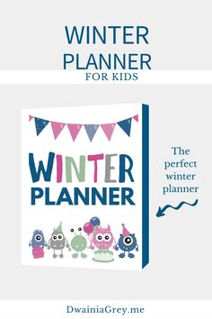 Keep your family organized by planning your family's winter activities. This colorful planner for kids and the whole family to use to plan your winter vacation. Buy Now! #winterplanner Summer Planner, Kids Planner, Holiday Planner, Holiday Activities, Indoor Activities, Summer Activities, Family Organizer, Printable Planner, Marketing And Advertising