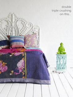 Kantha Quilts by decor8, via Flickr Would make a great nursery color scheme