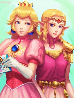 Princess Peach and Princess Zelda  [Super Smash Bros. Melee]