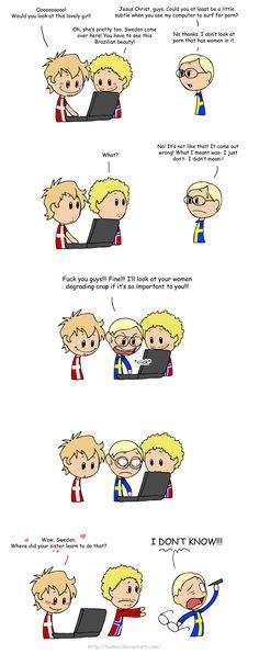 Poor Sweden, he's scarred forever- SATW comics