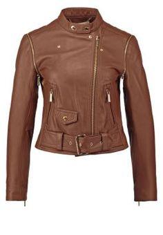 Resultado de imagen para chaquetas de cuero cafe mujer
