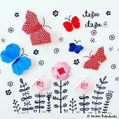 テフテフ…tefutefu  #origami #papercraft  #paperflower  #butterfly #washi #flowergarden  #nanatakahashi  #おりがみ  #ペーパークラフト #ペーパーフラワー #チョウチョ #てふてふ  #お花畑  #和紙 #たかはしなな