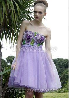 Purple Beading Party Dress