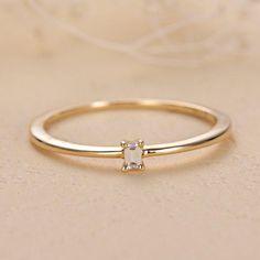Petite Engagement Ring, Baguette Engagement Ring, Baguette Diamond Rings, Gold Engagement Rings, Solitaire Rings, Simple Solitaire, Ring Set, Ring Verlobung, Bridal Rings