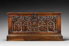 Century French and Polychromed Walnut Chest, Louis XII For Sale Gothic Furniture, Antique Furniture, Renaissance, Louis Xii, Gothic Pattern, Vintage Blanket, Trunks And Chests, Wood Chest, Blanket Chest