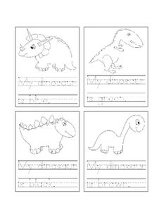 Students can trace each sentence and then color the dinosaur according to the text. Students can cut out each mini page to create a mini book that ...