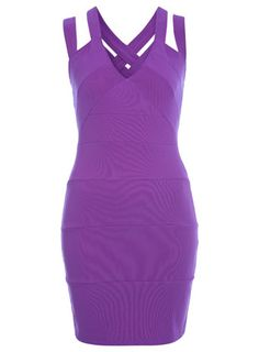 Purple strap back dress, $65