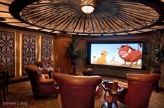 Now THIS is the way to watch a movie!  Donny Hackett Design