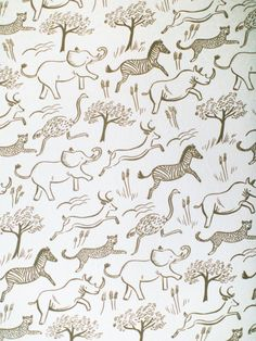 The Safari Blush wallpaper features muted pink illustrated safari animals printed on blush pink paper. Ships directly from Hygge & West. Made in USA. Blush Wallpaper, Neutral Wallpaper, Nursery Wallpaper, Print Wallpaper, Animal Wallpaper, Wallpaper Ideas, Wall Paper Nursery, Paper Wallpaper, Nursery Room
