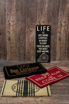 Our metal signs and doormaths