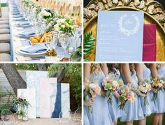 Pantone's serenity wedding ideas