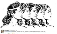 Wonder Woman thru the ages by Phil Jimenez
