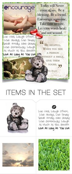 """""""One Kind Word"""" by hubunch ❤ liked on Polyvore featuring art and encourage"""