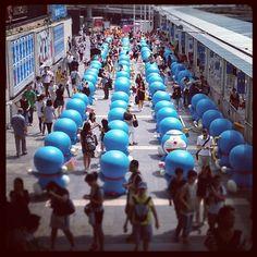 Spot the odd one out.  #doraemon #causeway #bay #hk - @brocolee- #webstagram