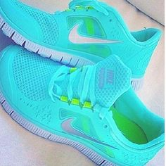 ♥♥ womens nikes fashion -nike free run 3 womens tiffany blue #cheap #nike #free