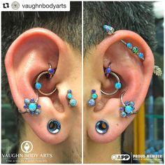 2,013 vind-ik-leuks, 18 reacties - Anatometal (@anatometalinc) op Instagram: '#Repost @vaughnbodyarts - Wow! ・・・ Take a look at these fancy ears! Our client Carter has…'
