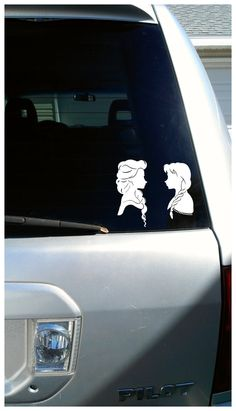 Elsa/ Vinyl Sticker Decal/ Car Decal/ Disney by WriteAtHome... My daughter LOVES everything Frozen