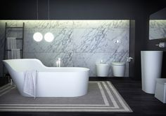 With bold geometric outlines and strong industrial influences, the contemporary yet refined K-Stone reflects current contemporary bathroom trends. Contemporary Style Bathrooms, Modern Baths, Modern Bathroom, Stone Bathroom, Bathroom Trends, Bathroom Ideas, Bathroom Collections, Bathroom Interior Design, Beautiful Space