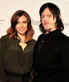 Lauren Cohan & Norman Reedus attend Capitol File's WHCD Weekend Welcome Reception with Cecily Strong at The British Embassy on April 24, 2015 in Washington, DC