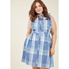 Broadcast Coordinator Sleeveless Shirt Dress (€69) ❤ liked on Polyvore featuring dresses, apparel, fashion dress, varies, blue shirt dress, shirt dress, long shirt dress, long-sleeve midi dresses and t-shirt dresses