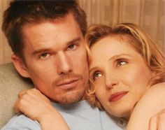 Ethan & Julie - before-sunrise-before-sunset photo Before Sunset, Before Midnight, Before Trilogy, Julie Delpy, Ethan Hawke, Scene Photo, Sunset Photos, International Film Festival, Behind The Scenes