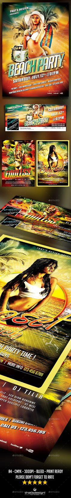 Beach Party Flyer Bundle