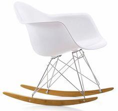 RAR Eames Plastic Rocking Armchair white by Jelanie