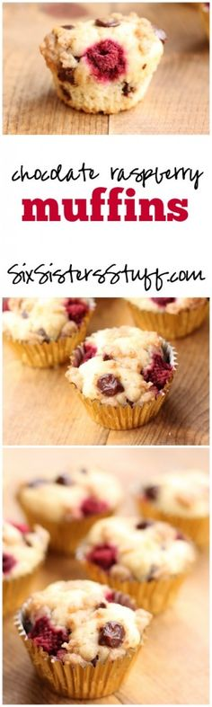 Chocolate Raspberry Muffins on Six Sisters' Stuff