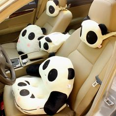 Panda car accessories. Need to deck Ben's care with all these accessories once he gets it. he he he...