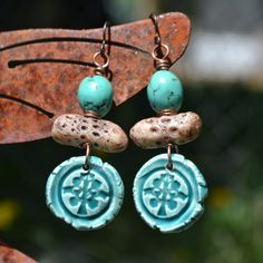 Turquoise Tree of Life Earrings | Flickr - Photo Sharing!