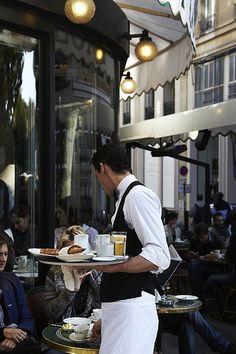 Waiter, Café de Flore, St Germain, Paris 6ème