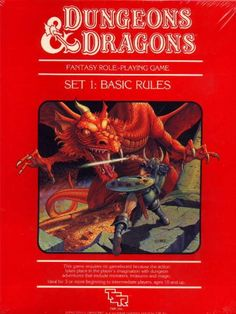 """D&D Basic Set 3rd Edition, the classic """"Red Box"""" edition (Mentzer)"""