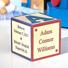 $17.99 Personalized Baby Block Baptism Gift