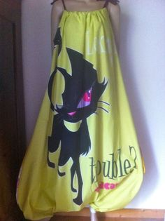 ausgefallenener Ballon Jumpsuit, Overall, Latzhose,44-50,upcyling, Bad Cat