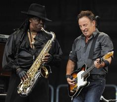 """Clarence """"Big Man"""" Clemons rocks out with Bruce Springsteen"""