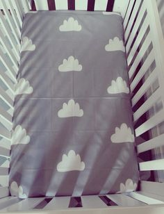 'The Cloud' cot sheet by creamempire