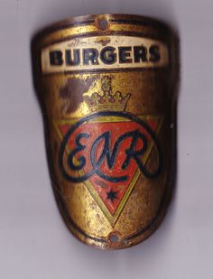 Vtg BURGERS ENR headbadge head badge bicycle cycling bike plate in Collectables | eBay