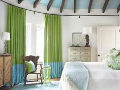 Blue and green - curtains