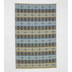 Reversible & Recycled Blue Morocco Indoor/Outdoor Rug - x Recycled Rugs, Recycled Materials, Indoor Outdoor Rugs, Outdoor Decor, Outdoor Dining, Outdoor Spaces, Moroccan Blue, Modern Moroccan, Moroccan Rugs