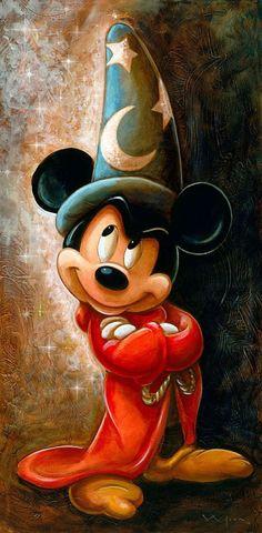 """tinkeperi:  Disney Fine Art: """"Sorcerer Mickey Mouse"""" by Darren Wilson:) …"""