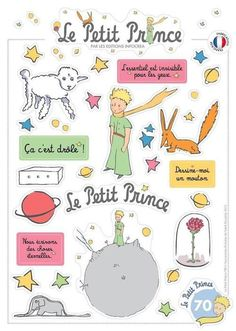 Ultra Brilliant Stickers : The Little Prince French Teacher, French Class, French Lessons, Teaching French, Little Prince Party, The Little Prince, Prince Birthday Party, Prince Tattoos, Learn French