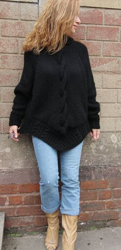 Cable Smock Sweater. Choice of sizes, colours and yarn