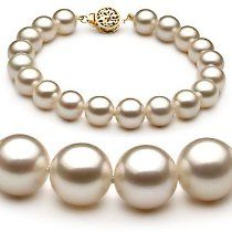 PearlsOnly White 8-9mm AAAA Cultured Freshwater Pearl Bracelet