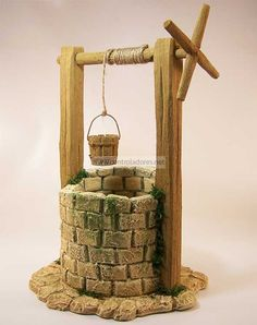 POZOS DE BELENES - Buscar con Google Miniture Things, Christmas Nativity Scene, Christmas Villages, Wishing Well, Birth Of Jesus, Gnome House, Fairy Doors, Dioramas, Fairy Houses