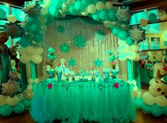 A nice balloon decoration Princess Elsa theme we did for a recent kids birthday party. Happy Birthday Art, Cute Birthday Gift, Adult Birthday Cakes, Birthday Party Tables, Rainbow Birthday Party, Balloon Arrangements, Balloon Decorations, Birthday Girl Pictures, Dad Cake