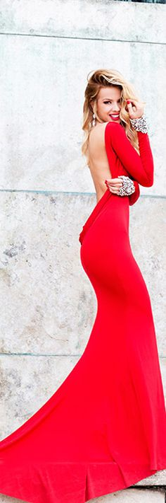 Lady in Red.....if only I were tall!....and blonde....and looked like a super model