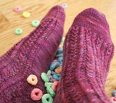 Froot loop sock - Spring 2008 - Knitty