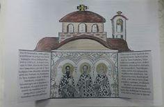 Δημιουργίες από καρδιάς...: 3 Ιεράρχες κατασκευή Kirchen, Preschool Crafts, Sunday School, Taj Mahal, Room Decor, Activities, Education, Travel, Sf